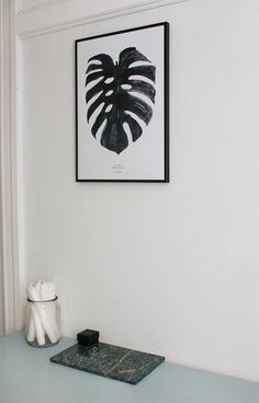 Monstera Plant print, Nordic Interior