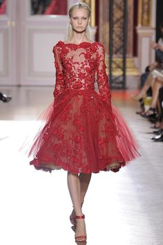 #Red and poofy. Zuhair Murad Fall #Couture 2012 - Runway, Fashion Week, Reviews and Slideshows - WWD.com (Photo by Dominique Maitre)