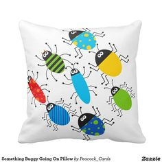 Something Buggy Going On Pillow