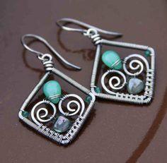 Chrysoprase+and+Green+Quartz+Earrings+by+AlaskaFirefly+on+Etsy,+$43.00