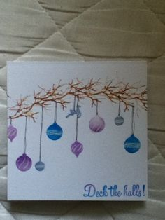 Hand stamped card using card io stamps.