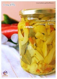 Zucchine sott'olio versione bollite