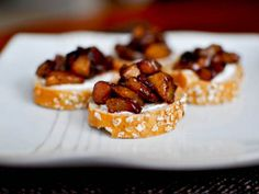 Roasted Cinnamon Pear Bruschetta