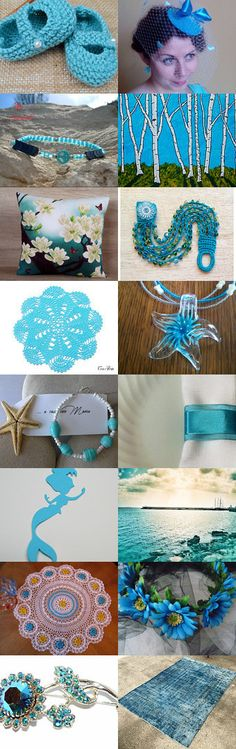 Turquoise Treasures by Anne A. Foster on Etsy--Pinned+with+TreasuryPin.com