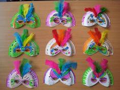 Disfresses infantils: màscares fetes amb plats de plàstic / tot nens
