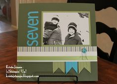 Easy, simple, clean lines. 12 x 12 scrapbook page layout.