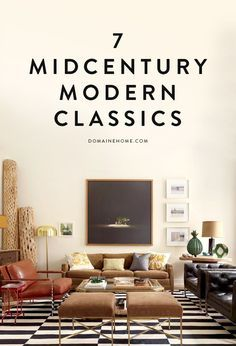These midcentury modern classics will never go out of style... This is so my style.