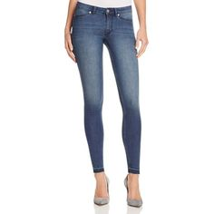 Cheap Monday Spray Skinny Released Hem Jeans in Fall Blue ($90) ❤ liked on Polyvore featuring jeans, fall blue, cut skinny jeans, cheap monday jeans, cheap monday, blue denim jeans and skinny fit jeans