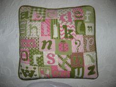 Alphabet Needlepoint Sampler - I could do this canvas over and over again, very fun to do.  (A great stash user project!)