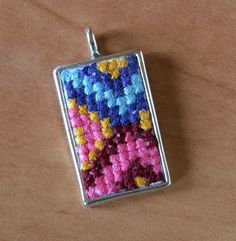 Cross Stitches cross stitch pendant - By Andrea DeHart Needle crafts such as cross stitch and embroidery are wildly popular, and the techniques are quick and easy. Make this cross-stitch Beaded Cross Stitch, Cross Stitch Embroidery, Cross Stitch Patterns, Embroidery Patterns, Stitching Patterns, Floral Embroidery, Hand Embroidery, Minis, Cross Stitch Tutorial