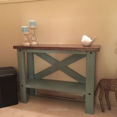 Neat Mini console table | Do It Yourself Home Projects from Ana White The post Mini console table | Do It Yourself Home Projects from Ana White… appeared first on Aramis Decor .