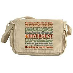 Divergent Quotes Messenger Bag