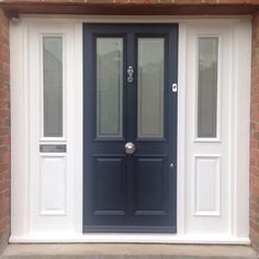 Victorian 4 panel front door, Farrow and Ball - All White/Railings. Todd Doors