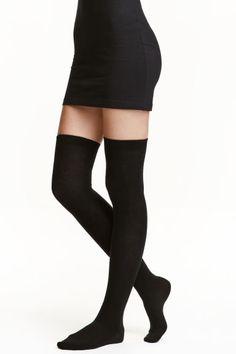 Overknee-strumpor - Svart - Ladies | H&M SE 1