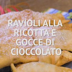 Italian Desserts, Italian Recipes, Easy Cake Recipes, Dessert Recipes, Ricotta Ravioli, Chocolate Chip Recipes, Food Cakes, Relleno, My Favorite Food