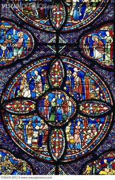 chartres cathedral stained glass | ... stained interior interiors intricate religious stained stained glass