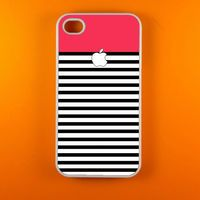 Red White Stripes Iphone case