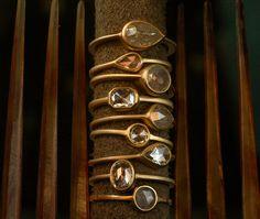 Conroy and Wilcox. bezel set jewel rings