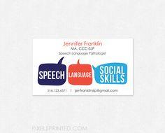 Pop art speech language pathology business card pinterest people also love these ideas speech language pathologist business cards colourmoves