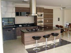 Área Gourmet – Jacarandá Arte & Madeira Open Kitchen And Living Room, Kitchen Room Design, Home Decor Kitchen, Gourmet Cooking, Bedroom House Plans, Home Interior Design, Furniture, Kitchen Trends, Decorating Kitchen