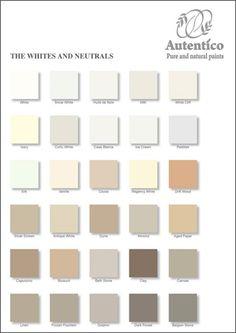 Gris et tons terres les nuanciers autentico peintures - Nuancier de blanc ...