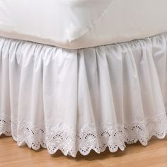 Complete your favorite bedding with this elegant Croft & Barrow eyelet bedskirt. Ruffle Bed Skirts, Ruffle Bedding, Linen Bedding, Bedding Sets, Bed Linens, Round Beds, King Duvet Cover Sets, Bed Linen Design, Linen Storage