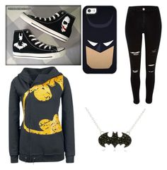 """Batman"" by regaladolr ❤ liked on Polyvore featuring Converse and Casetify"