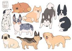 hamotzi. Art, dogs, illustrations, stickers