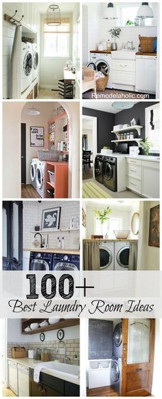 100+ Best Laundry Room Inspiration | Small laundry room organization and storage storage hack ideas on Remodelaholic
