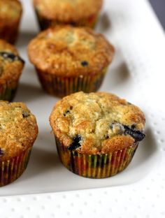 Blueberry Banana Muffins | 10 minutes till they come out of the oven! And I added walnuts...yummm