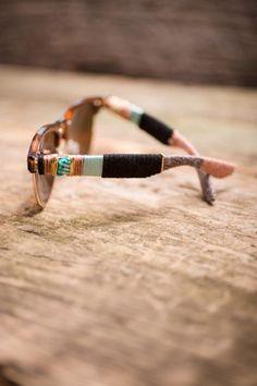 Beaded Wayfarer Sunglasses