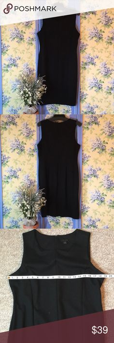 Ann Taylor Black Stretchy Bodycon Dress Ann Taylor black dress is very stretchy, to hug your curves. Features princess seams, hidden back zipper, small kick pleat at the bottom of the skirt back. You always need another well-made, basic black dress!  Offers welcome! Remember to bundle for a discount! Ann Taylor Dresses