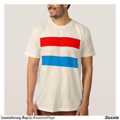Luxembourg, flag shirt