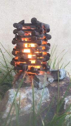 Recycled railroad spikes form an octagonal stack.the flames love this piece Backyard diy videos Viking funeral Welding Art Projects, Welding Crafts, Metal Art Projects, Blacksmith Projects, Diy Welding, Woodworking Projects, Railroad Spikes Crafts, Railroad Spike Art, Recycled Metal Art