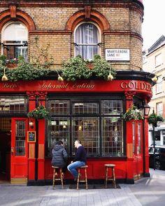 The Golden Eagle, London, England Pub Design, Coffee Shop Design, Restaurant Design, Art Restaurant, London Decor, British Pub, London Pubs, Shop Fronts, London England
