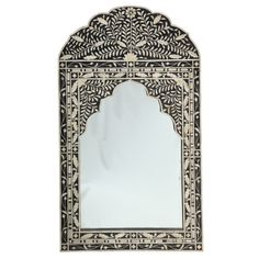 Extravagant bone inlay mirror with moroccan spirit (which we love of course)