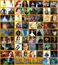 Once Upon a Time - Characters and their Counterparts