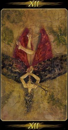 XII. The Hanged Man - Tarot of the Secret Forest by Lucia Mattioli