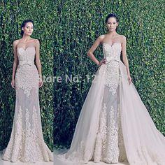 Aliexpress.com: Comprar 2015 nueva boda vestidos novia opacidad desmontable falda vestido de boda atractivo del arco de moda vestido de novia de vestido de swarovski fiable proveedores en C_L Dress FACTORY STORE