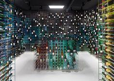 Weinhandlung Kreis by Furch Gestaltung + Production Multi coloured wine rack