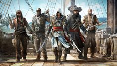 Some of the pirates of Assassin's Creed IV: Black Flag.