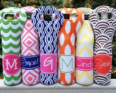 Haymarket Designs Personalized Koozies and Wine Totes