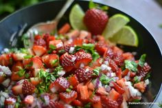 The view from Great Island - Strawberry Jalapeño Salsa