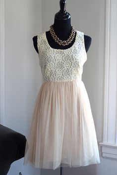 Lace and tulle full skirt dress