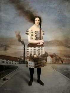 collage by catrin welz-stein you are the factory  industrial impact on people and who they became