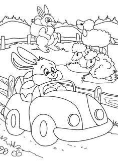 Free Easy To Print Bunny Coloring Pages - Tulamama Easter Coloring Sheets, Bunny Coloring Pages, Easter Colouring, Halloween Coloring, Printable Coloring Pages, Colouring Pages, Adult Coloring Pages, Coloring Pages For Kids, Coloring Books