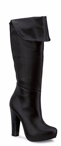 oferta botas largas andrea plataforma oculta color negro
