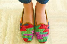 Kilim shoes Size 39 US size 8 by kilims on Etsy