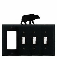 Bear - Single GFI and Triple Switch Cover by Village Wrought Iron. $18.32. Bear - Single GFI and Triple Switch CoverApprox. 8 1/4 In. W x 8 In. H Please allow 4 to 6 weeks for delivery.