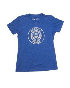 64574312747 Detroit Football Pride - Women s - T-Shirt - Royal Blue